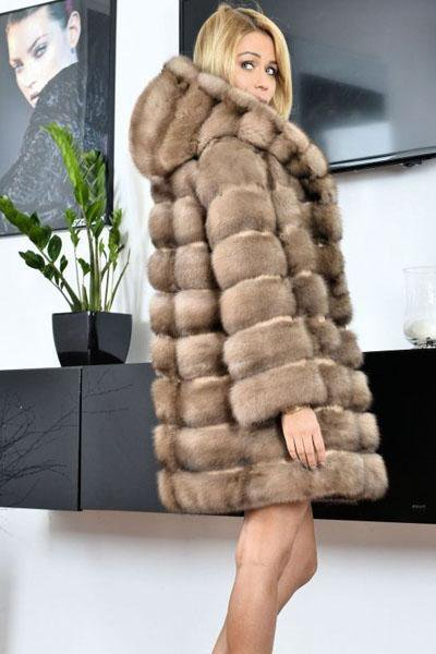 Hooded Warm Fur Coat