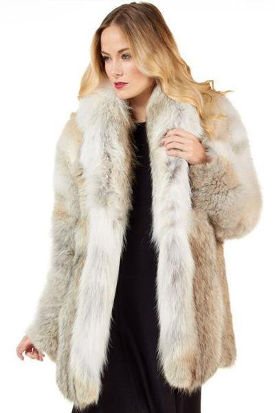 Woman Warm Long Sleeve Fur Coat