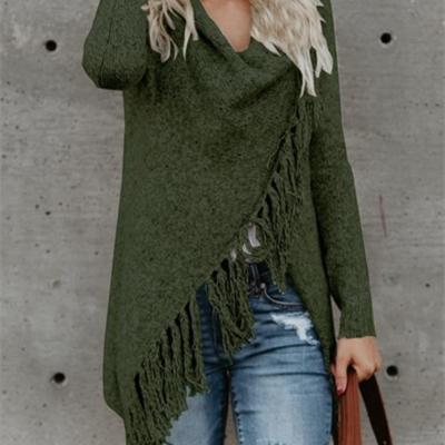 Over Size Fringed Sweater Female FW2018