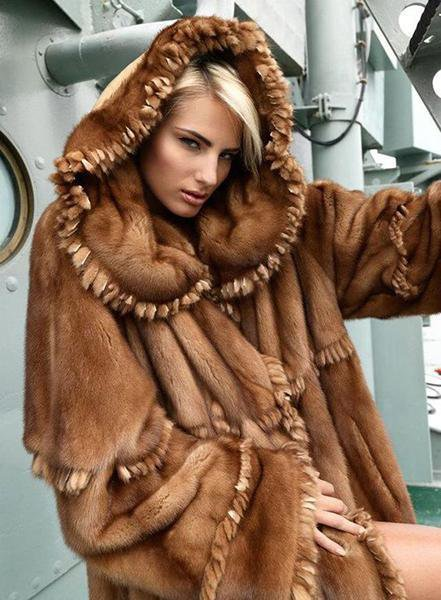 Luxury Brown Fur Coat