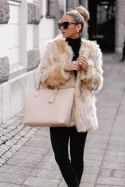 Female Short Thin Fur Coat