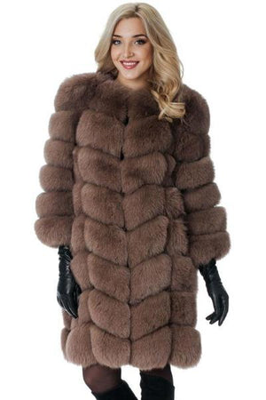Brown Warm Fur Coat