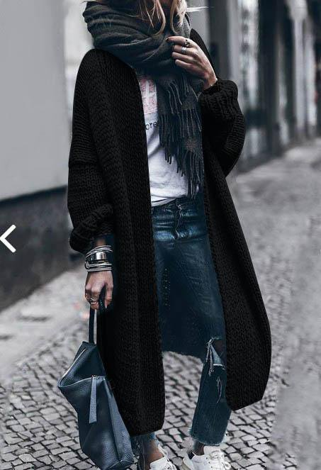 Cashmere Batwing Sleeve Knit Coat Fall/Winter 2018