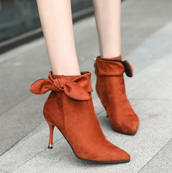 Female High Heel Bow-knot Boots