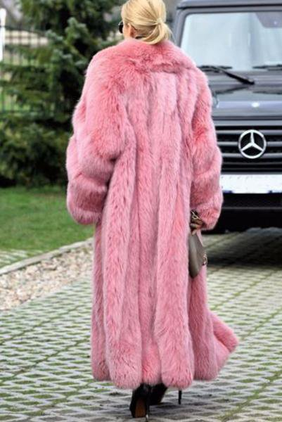 Women Thicken Warm Winter Long Fur Coat