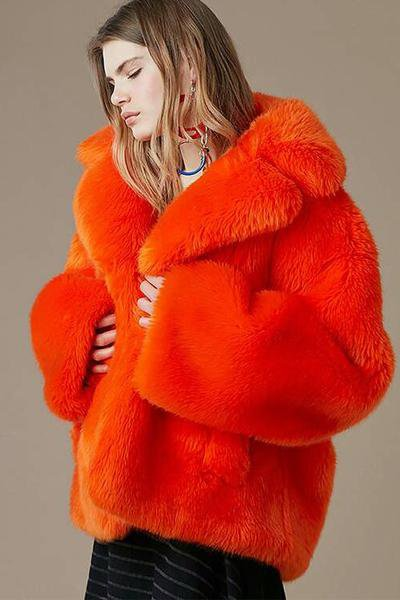 Fashion Fur Collared Jacket
