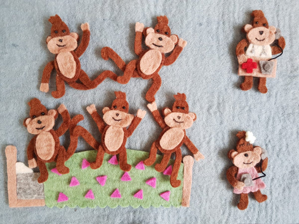 Five Little Monkeys Jumping On A Bed & Five Little Monkeys Swinging In A Tree Play Set