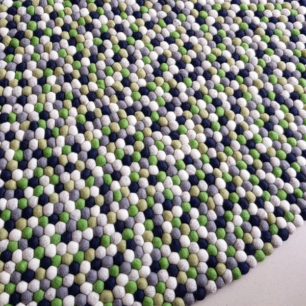 Felt Ball Rug – Alpine Forest