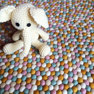 Felt Ball Rug - Honeycomb