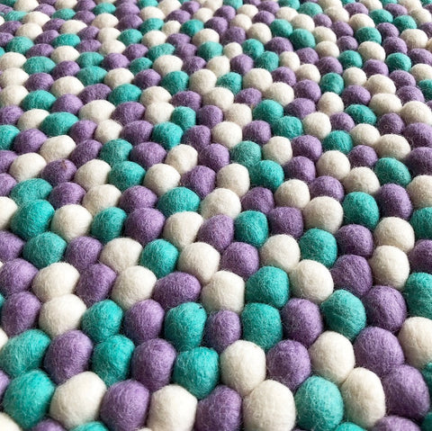 Felt Ball Rug – Lavender Fields