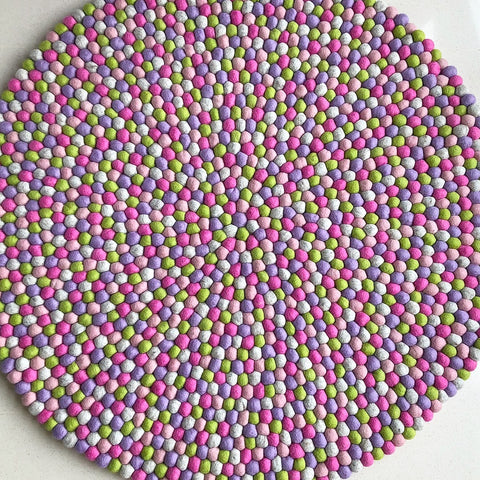 Felt Ball Rug – Let It Be Spring