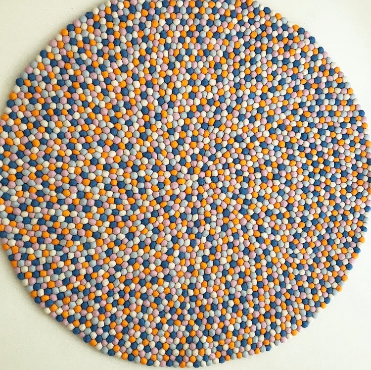 Felt Ball Rug – Summer Skies