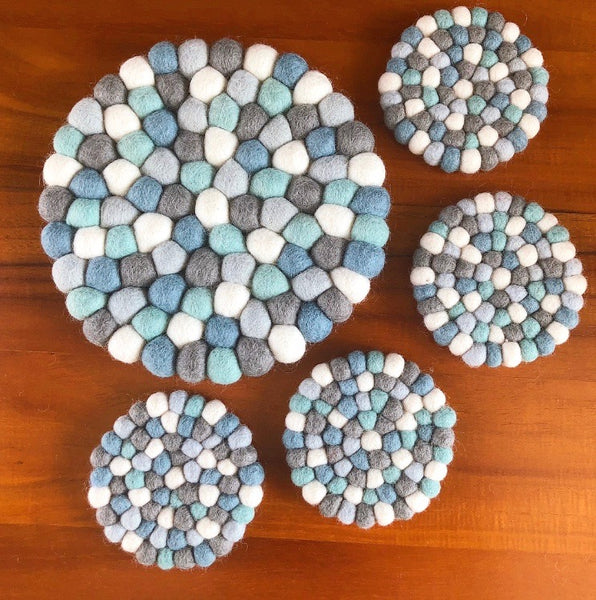 Felt Ball Trivet & Coaster Set - Prince George