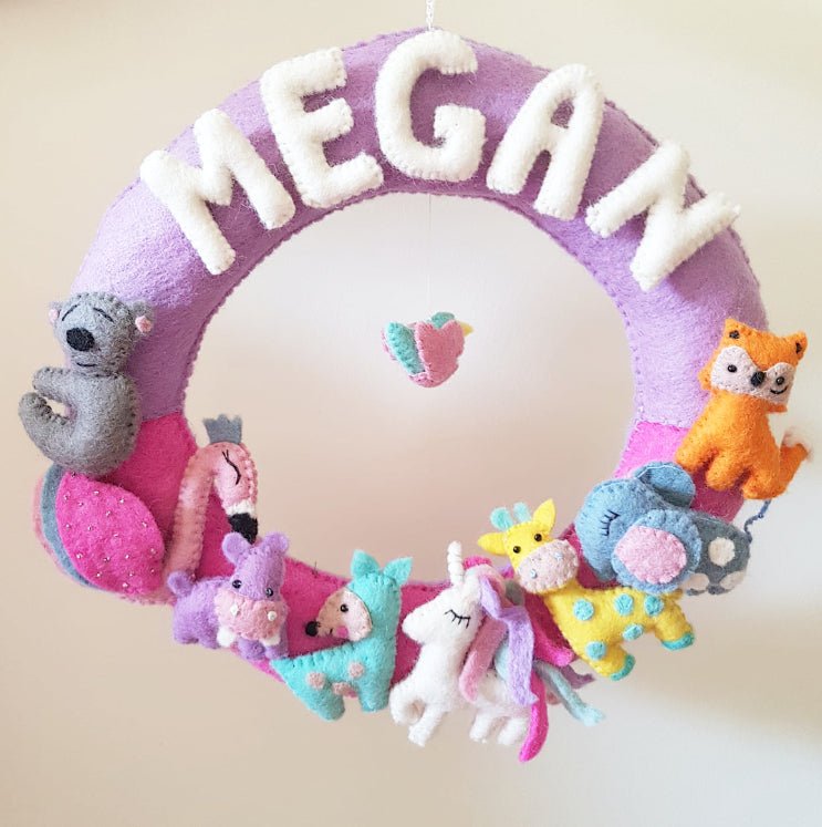 Personalized Name Wreath - Magical Kingdom