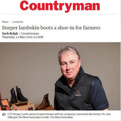 Countryman Magazine 'Dorper lambskin boots a shoe-in for famers' (May 2020)