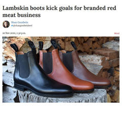 Lambskin Boots kick goals for branded red meat business