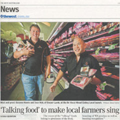 The West Australian - Feb 2010 Read article: 'Talking food' to make local farmers sing