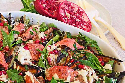 Roast Lamb Salad with Pommegranite