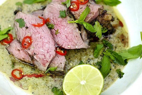 BBQ Leg of Lamb with Thai Green Spices