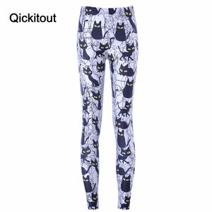 Free shipping New Hot Sexy Women New Pants Womens Trousers Fashion Cute cartoon black cat Pant Capris Cute New Fitness