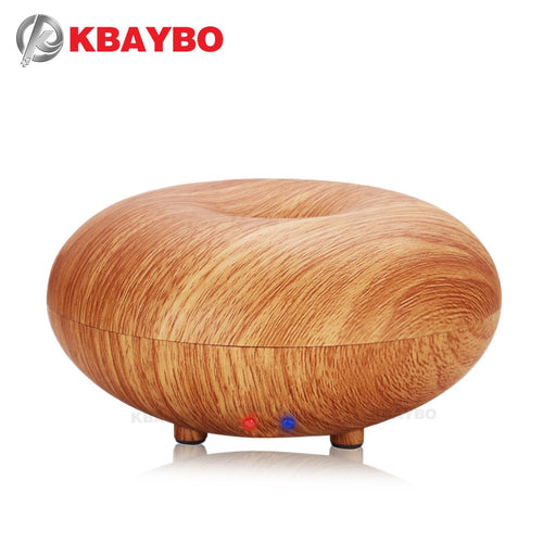 100ml Aroma Essential Oil Diffuser Wood Grain Ultrasonic Cool Mist Humidifier for Office Home Bedroom Living Room Kitchen