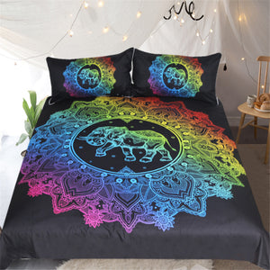 BeddingOutlet Mandala Collection Elephant Duvet Cover With Pillowcase Colorful Printed Bedding Set Bohemian Bed Set Quilt Cover