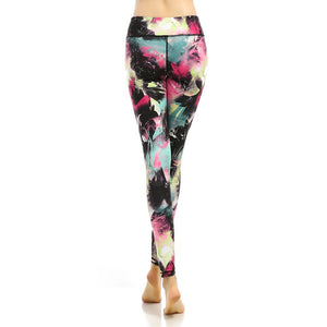 Digital Printing Elasticity Long Yoga Leggings