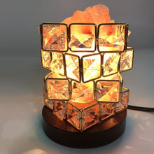 Load image into Gallery viewer, ICOCO Special Magic Cube Shape Healthy Life Himalayan Natural Crystal Salt Light Air Purifying Himalayan Salt Lamp for Bedroom