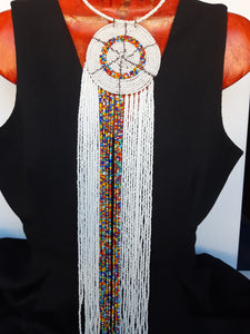Zulu Maasai Waterfall Necklace