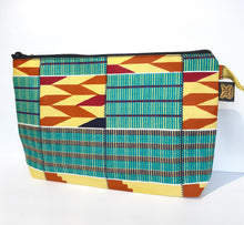 Load image into Gallery viewer, Kente Toiletry Purse