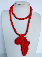 Load image into Gallery viewer, This handmade necklace gives an accent to your accessories. It come in four colors as shown on the pictures. It is made out of good quality basswood.