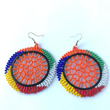 Load image into Gallery viewer, Zulu Beaded Circle Earrings