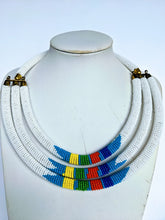 Load image into Gallery viewer, Three beautiful necklaces in one. Hand crafted using glass beads. Approximately 40 cm long