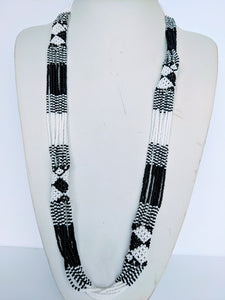 Long African Zulu Tube Necklace