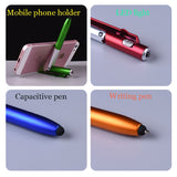 4 in 1 Mobile Phone Holder LED Light Capacitive Pen