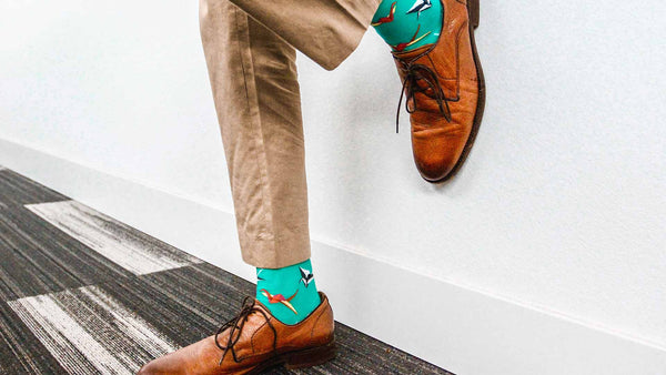 Men's crazy socks that attract attention in first look
