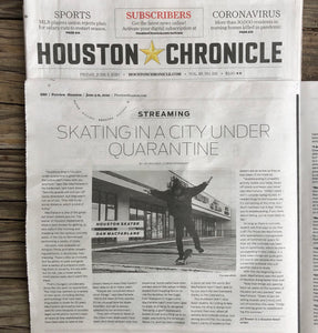 Houston Skateboards in the Houston Chronicle Newspaper