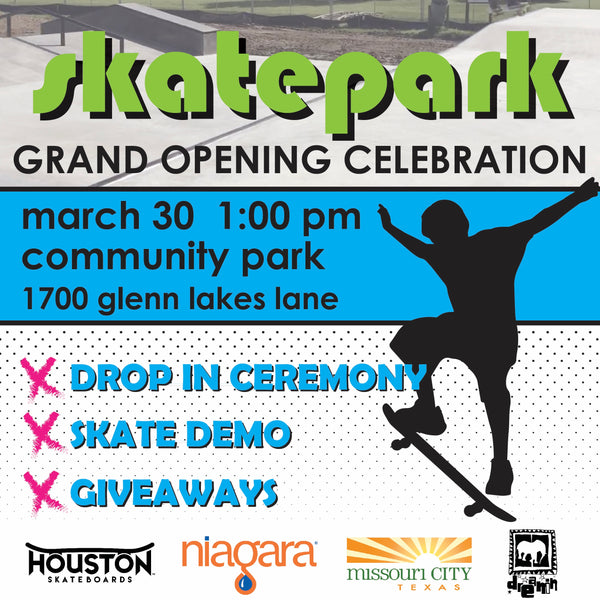 Missouri City Skatepark Grand Opening with Houston Skateboards!
