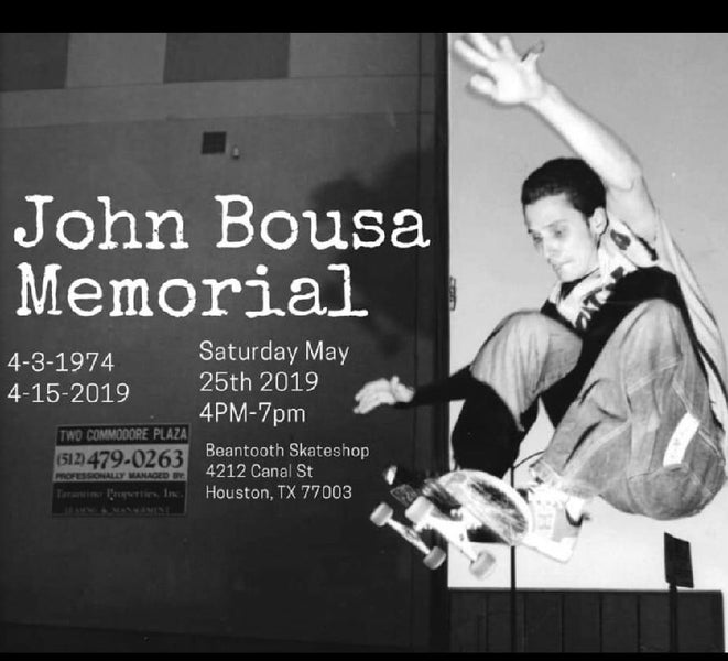 John G. Bousa Memorial at Beantooth Skateshop