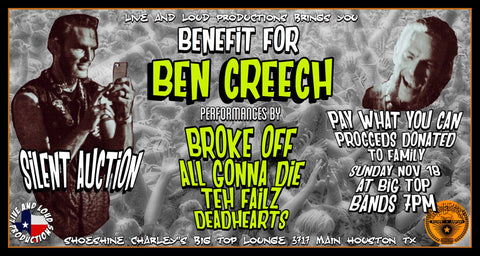 Benefit for Houston skateboarder Ben Creech