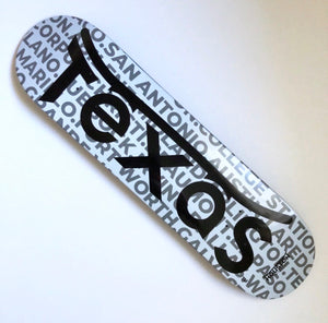 Texas Cities white deck