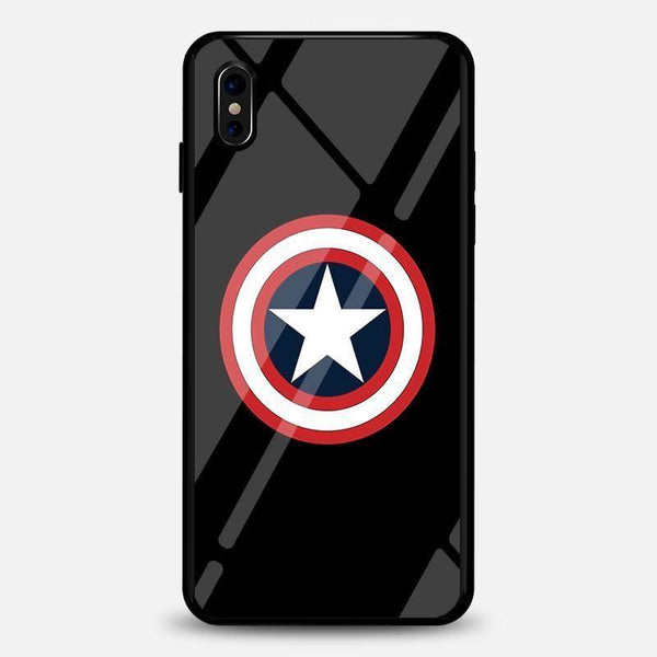 Captainamerica Captain America Luminous Glass Case For Iphone Bfcm Captain America Fluorescent Hotsale Ip7G Phone-Case 2018 $19.99
