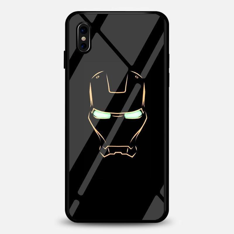 Ironman Iron Man Luminous Glass Case For Iphone Bfcm Fluorescent Hotsale Ip7G Ip7P Phone-Case 2018 $19.99