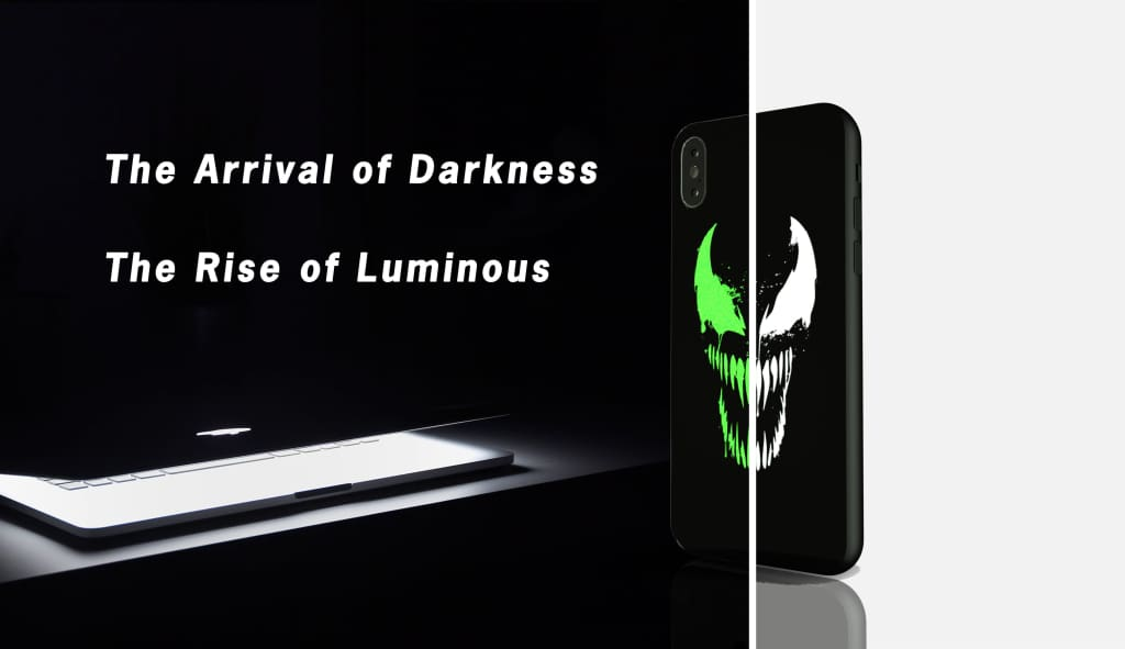 Black Panther Luminous Glass Case For Iphone