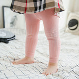 0-24m Baby Girl&Boy Leggings Kids Cotton Dobby Solide Color Regular Mid Elasic Waist Cute Pants
