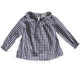 0-2T Baby Girl Clothes Shirt Red Green Black 3-Color Plaid Shirt Girl Clothes Spring Long-Sleeved Fashion Baby Girl Clothes