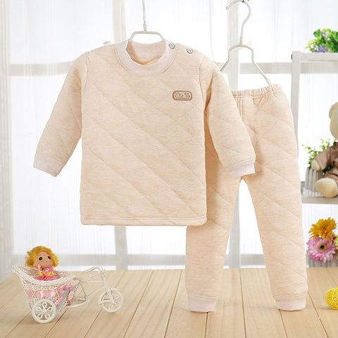 1-2T Baby Pajamas Girls Boys Winter Warm Pajamas Bathrobes A101 Cotton Long Sleeve Baby Sleeper Suit Nightwear For Children