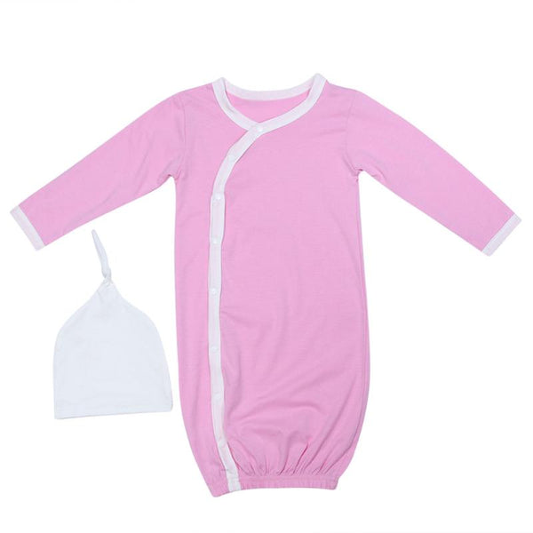 10671662085a 1Set Newborn Baby Sleep Gowns Solid Color Long Sleeve Toddler Sleeper –  ToysZoom