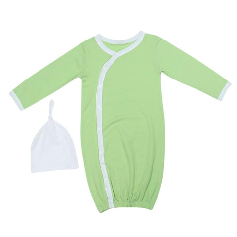 1Set Newborn Baby Sleep Gowns Solid Color Long Sleeve Toddler Sleeper Gowns Pajamas Clothes Baby Boy Girl Sleeping Kids Robe