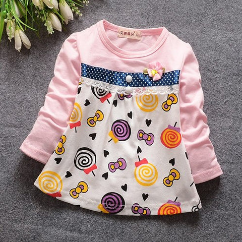 (1piece /lot) 100% cotton 2018 Cute candy baby girl outerwear